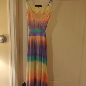 Tie dye summer cotton dress